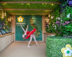 Dobbies award-winning living wall exhibition stand at the Chelsea Flower Show